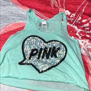 PINK Sequined PJ Tank